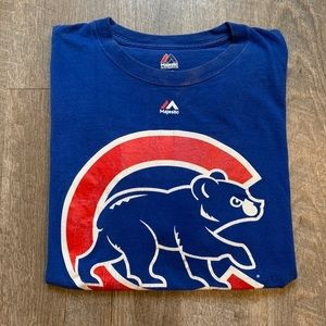 Men's Used Chicago Cubs Logo Tee [L]